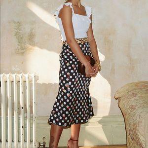 Never fully dressed Doris winter floral skirt xs